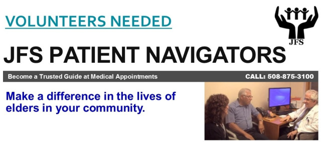 Join Our Team of JFS Patient Navigators – Upcoming Virtual Training on 10/22 and 10/23!