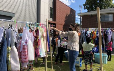 JFS Hosts Pop-Up Clothing Shop; Many Thanks to our Volunteers & Community Partners!